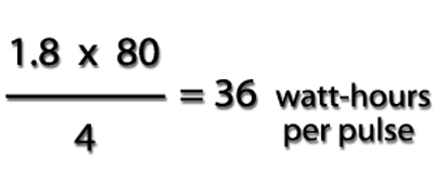Solved Watt-Hours per Pulse Equation