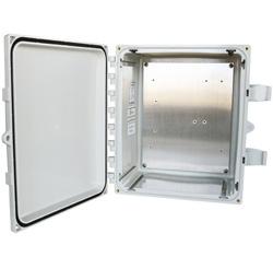 NEMA 4X Fiberglass Hinged Cover Enclosure